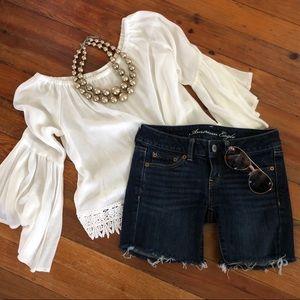 American Eagle Skinny Jean Shorts Size 0